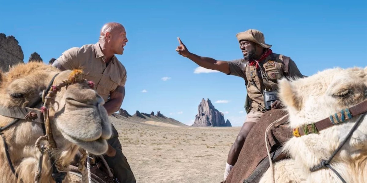 The Rock and Kevin Hart not getting along in Jumanji: The Next Level