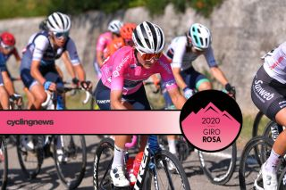 ARCIDOSSO, ITALY - SEPTEMBER 12: Elisa Longo Borghini of Italy and Team Trek - Segafredo Pink Leader Jersey / during the 31st Giro d'Italia Internazionale Femminile 2020, Stage 2 a 124,8km stage from Civitella Paganico to Arcidosso / @GiroRosaIccrea / #GiroRosa / on September 12, 2020 in Arcidosso, Italy. (Photo by Luc Claessen/Getty Images)