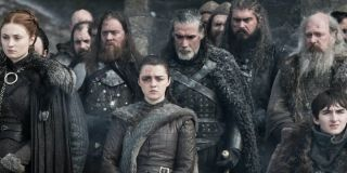 Game of Thrones the Stark children stand among other Westerosians