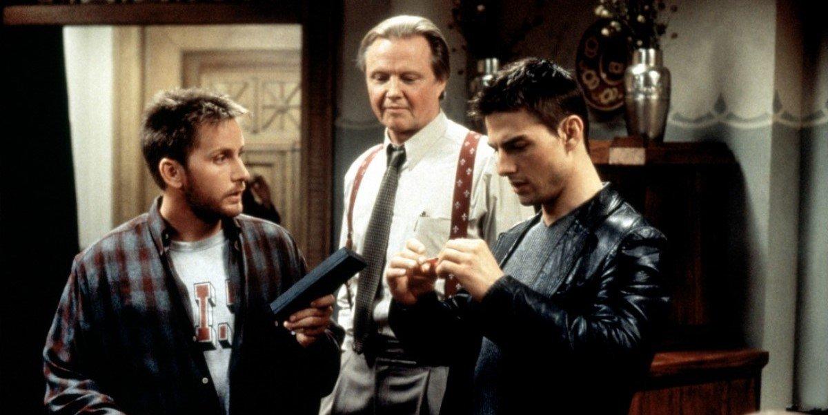 Emilio Estevez, Jon Voight and Tom Cruise in Mission: Impossible