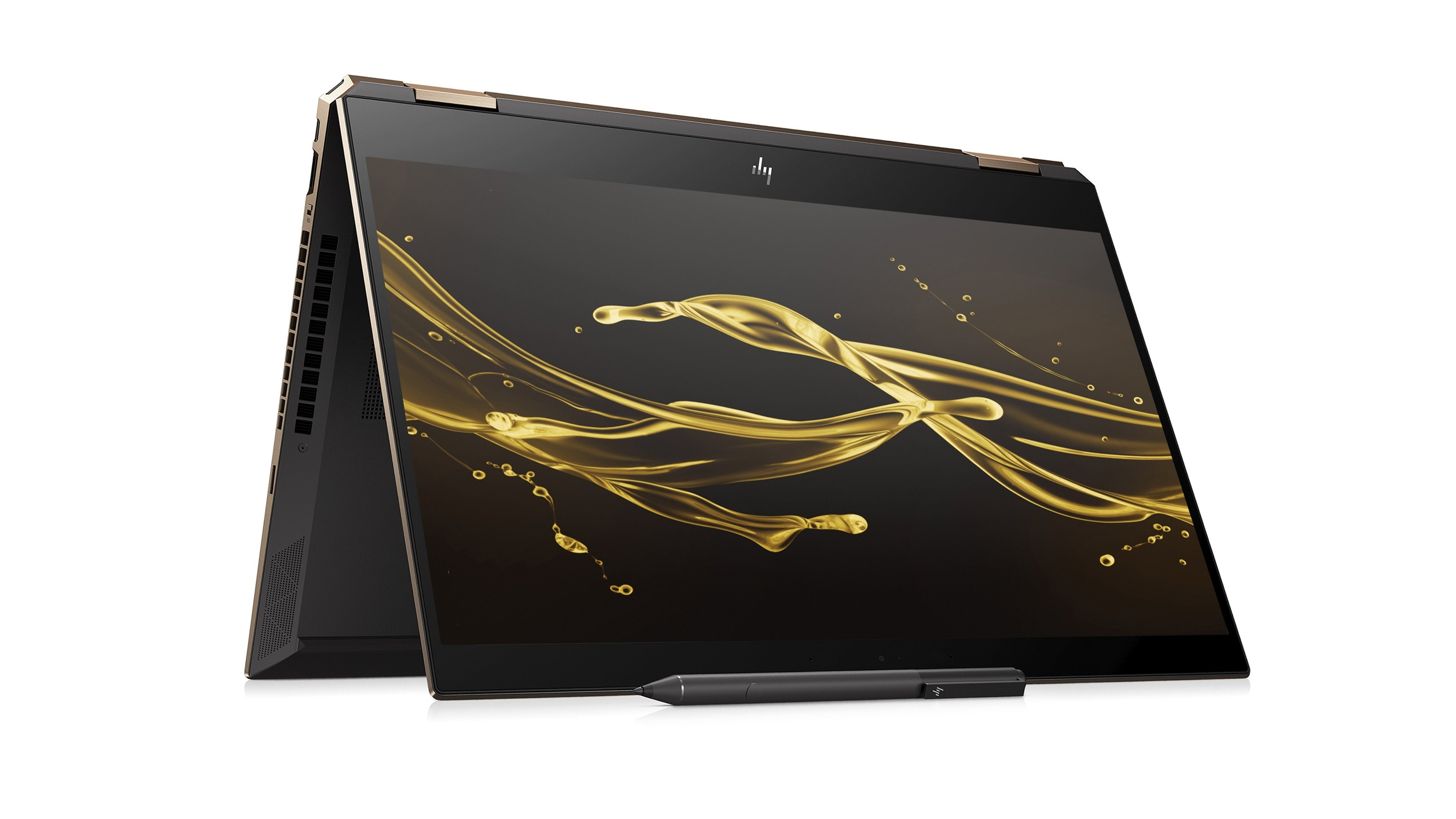 Image of the HP Spectre x360 folded in tent mode