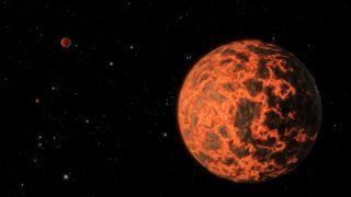 An artist's illustration of the alien planet UCF 1.01,.