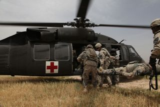 Military Helicopter Medevac