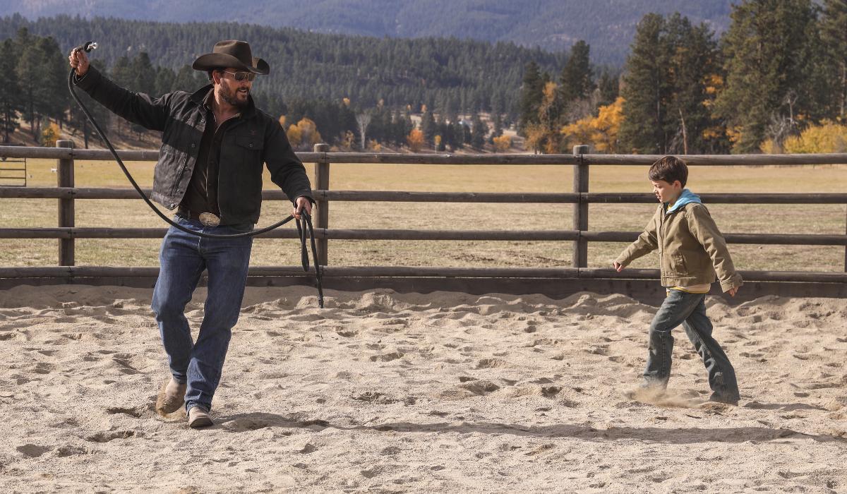 Yellowstone Rip Wheeler Cole Hauser Tate Dutton Brecken Merrill Paramount Network