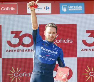 Vuelta Espana 2021 - 76th Edition - 13th stage Belmez - Villanueva de la Serena 203,7 km - 27/08/2021 - Florian Senechal (FRA - Deceuninck - Quick-Step) - photo Luis Angel Gomez/BettiniPhoto©2021