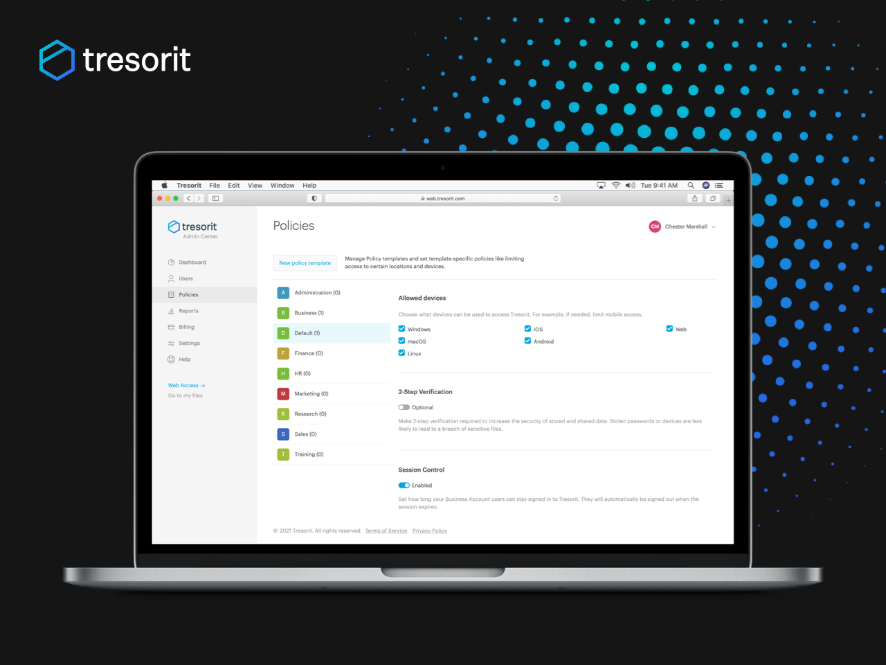 Tresorit Content Shield Security Policies