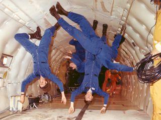 space history, KC-135, astronauts, vomit comet