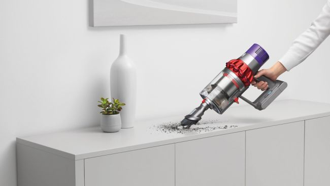 The Dyson Cyclone V10 has a 40% larger bin