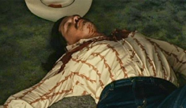 The murdered body of Llewelyn Moss in No Country For Old Men