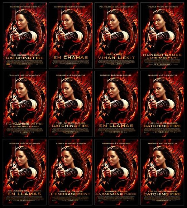 The Hunger Games Catching Fire Poster Mosaic