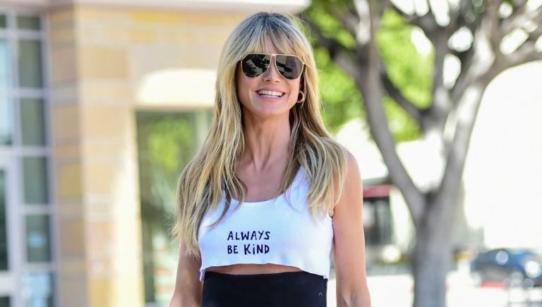 Heidi Klum is seen on March 31, 2021 in Los Angeles, California.