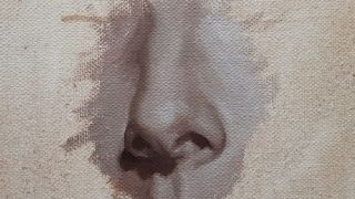 Nose in oil paints