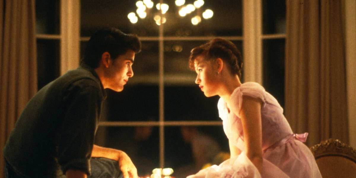 Michael Schoeffling and Molly Ringwald in Sixteen Candles