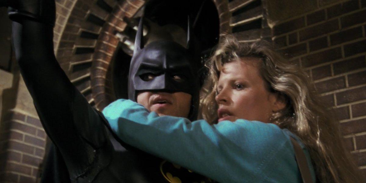 Michael Keaton and Kim Basinger in Batman