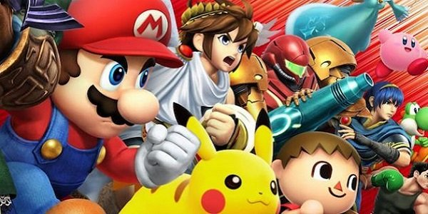 The Smash Bros. cast, ready for battle.