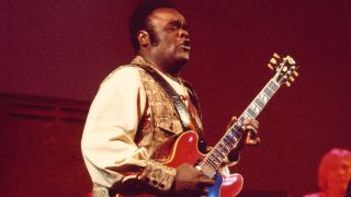 Freddie King and Leon Russell perform on stage at the Rainbow Theatre, London, 3rd November 1971.