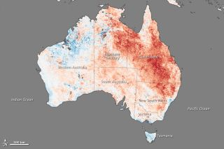 australia temperature anomaly map