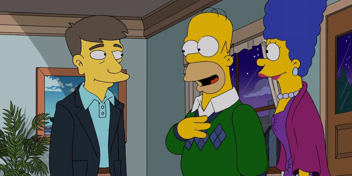 John Oliver, Dan Castellaneta, and Julie Kavner on The Simpsons