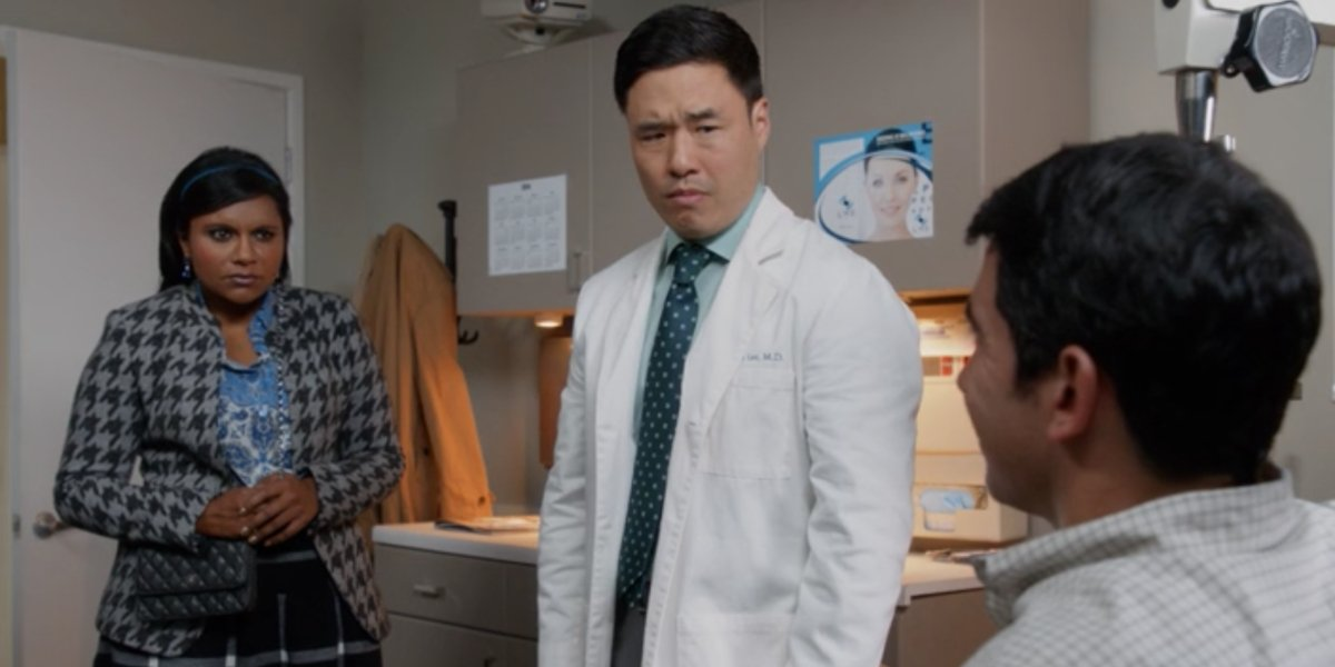 Mindy Kaling, Randall Park, and Chris Messina on The Mindy Project