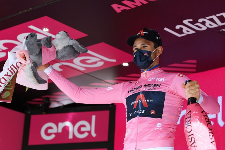 Filippo Ganna takes the pink jersey after winning stage one of the Giro d'Italia 2021