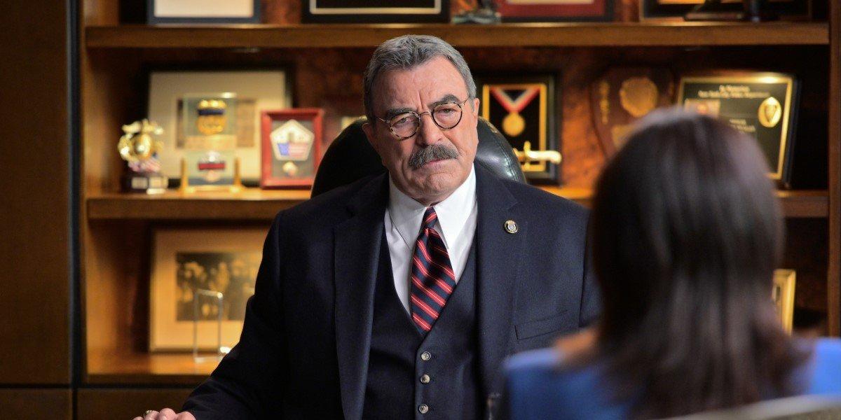 Tom Selleck's mustache in CBS' Blue Bloods, courtesy of CBS.