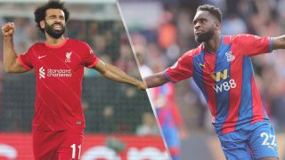 Liverpool vs Crystal Palace live stream — Mohamed Salah of Liverpool and Odsonne Edouard of Crystal Palace