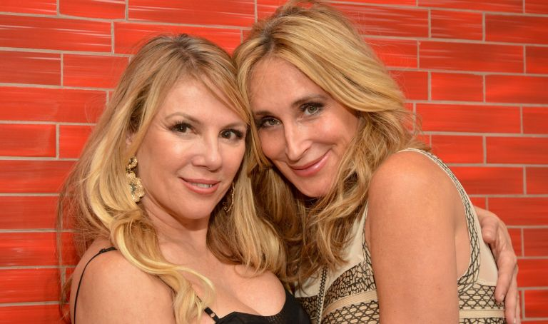 """Ramona Singer and Sonja Morgan pose at the """"The Real Housewives of New York"""" Premiere at Red Stixs"""