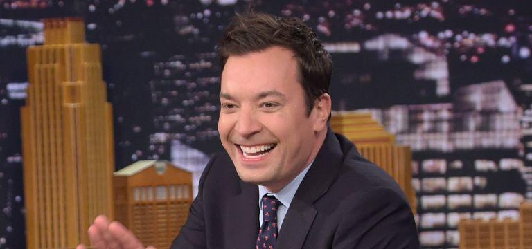 "Host Jimmy Fallon talks during ""The Tonight Show Starring Jimmy Fallon"" at Rockefeller Center"