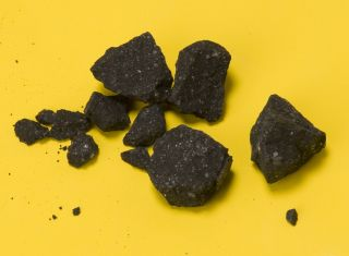 A handful of Sutter's Mill meteorite fragments.