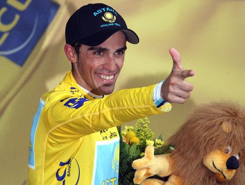 Alberto Contador, Tour de France 2009, stage 18