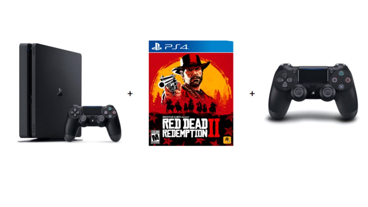 Ps4 With Red Dead Redemption 2 And An Extra Dualshock 4 Controller