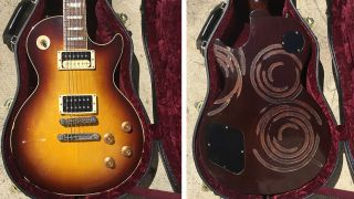 Gibson Les Paul With Stove Top Spiral Finish Spotted For Sale On Reverb Guitar World