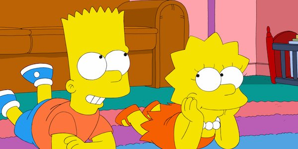 bart and lisa smiling on the floor the simspons fox