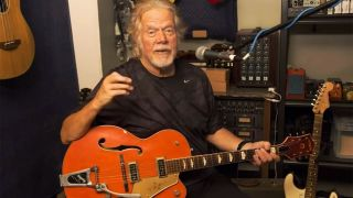 Randy Bachman with a 1957 Gretsch 6120 Chet Atkins guitar