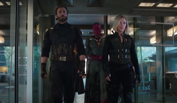 Steve Rogers, Vision and Black Widow in Infinity War