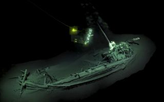 This ancient Greek vessel, described as the world's oldest intact shipwreck, was discovered at the bottom of the Black Sea off the coast of Bulgaria. It dates back to the year 400 B.C.