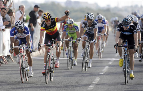 Tom Boonen wins, Tour of Qatar 2010, stage five