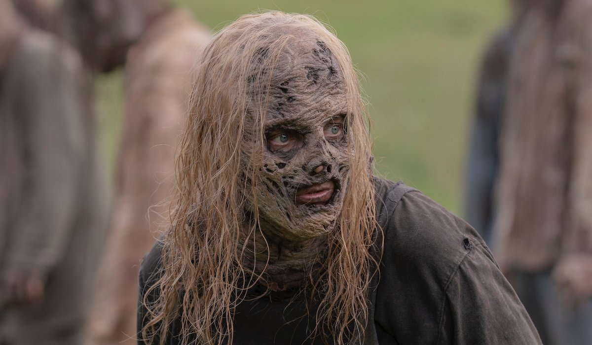 alpha with her skin on the walking dead season 10