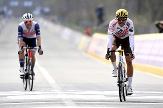 Greg Van Avermaet (AG2R Citroen) takes third in the 2021 Tour of Flanders