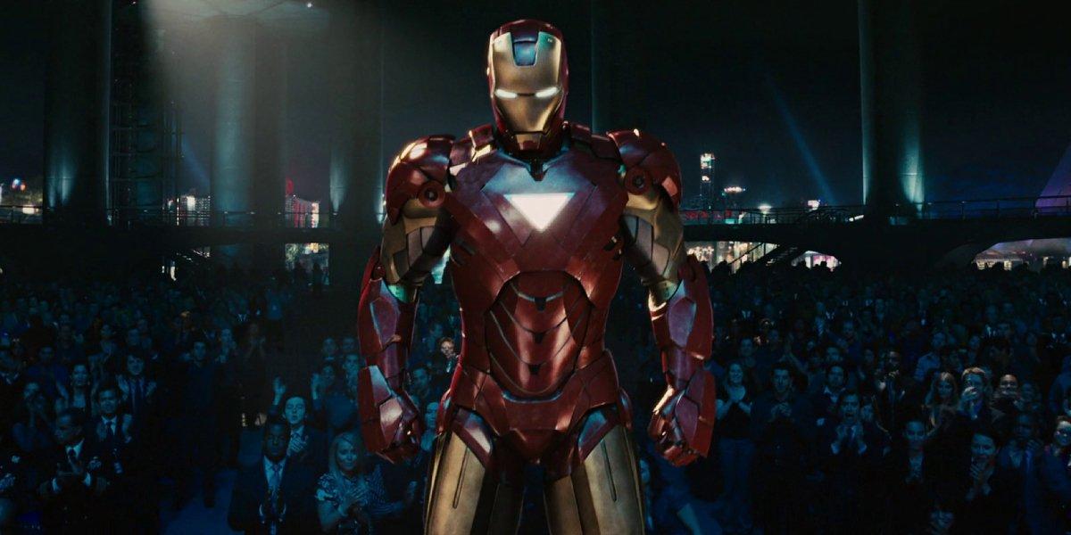 Robert Downey Jr. in Mark VI in Iron Man 2