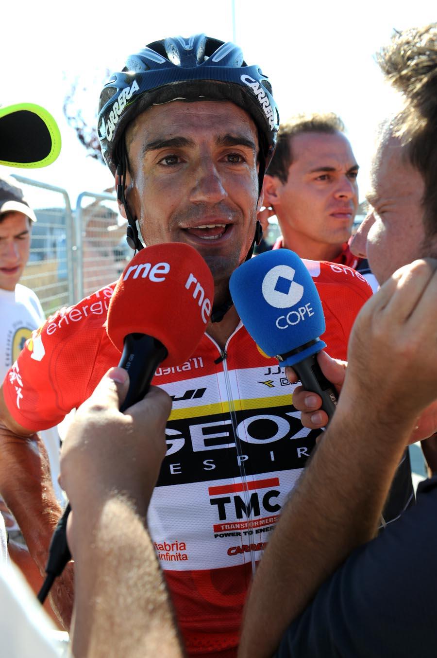 Juan Jose Cobo, race leader, Vuelta a Espana 2011, stage 16