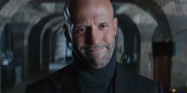 Jason Statham's Shaw giving a smug smile