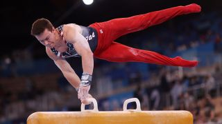 Gymnastics men's all-around live stream featuring Brody Malone of Team USA
