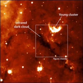 Cosmic Cloud Poised to Birth Massive Star