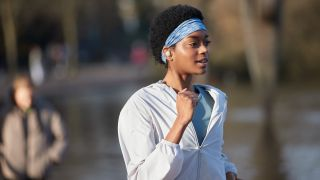 a woman exercising while wearing the best true wireless earbuds, the Sony WF-1000XM4