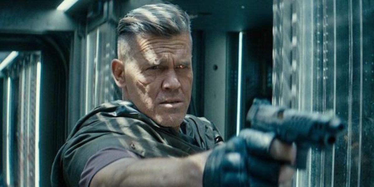 Cable shooting at Deadpool