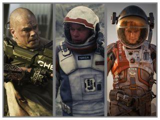 Matt Damon in 3 Science-Fiction Films