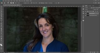 Remove wrinkles in Photoshop: Step 1