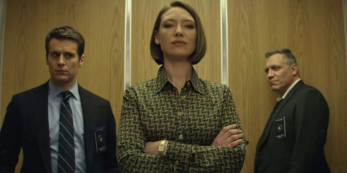 Bill Tench, Holden Ford and Wendy Carr in Mindhunter Season 3