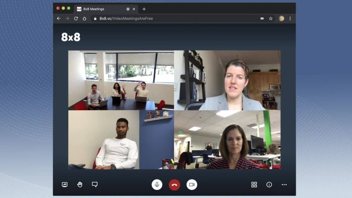 8x8 launches free video conferencing solution